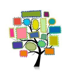 post stamp tree for your design vector image