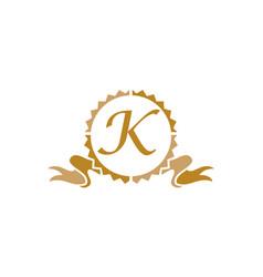 Quality letter k vector