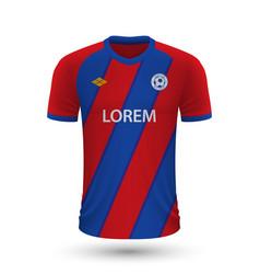 Realistic soccer shirt crystal palace 2022 jersey vector