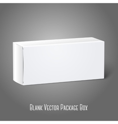 Realistic white blank paper package box Isolated vector image