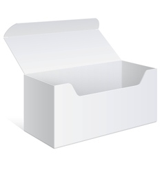 Realistic white Package Box For Software device vector