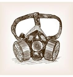 Respirator sketch style vector