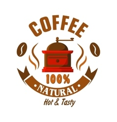 Retro coffee grinder icon for vintage cafe design vector