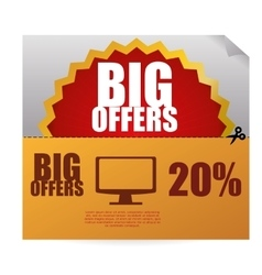 Sale design offer icon Isolated vector image