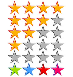 Star rating - review rate ranking element with 4 vector