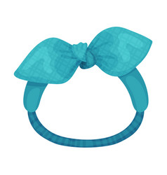 Stylish female headband with bow-knot isolated on vector