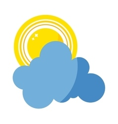sun cloud icon isolated vector image