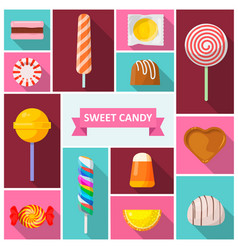 sweet candy icon vector image