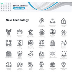 thin line icons set vector image
