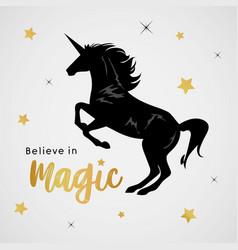 unicorns horse cute dream fantasy cartoon vector image