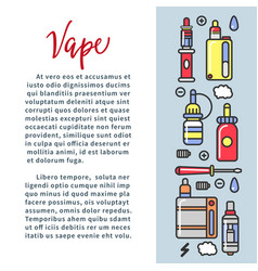 Vape zone internet shop promotional poster vector
