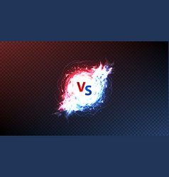 versus symbol with energy power effect vector image