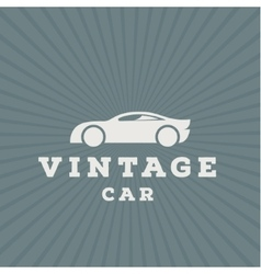 Vintage car flat high-quality logo trend vector image