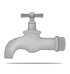 water tap valve vector image