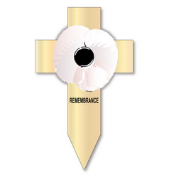 White poppy cross vector