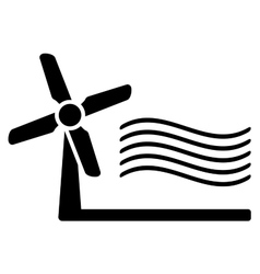 windmill and wind symbol vector image