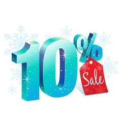 Winter Sale 10 Percent Off vector image