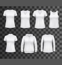 women white tank top t-shirts sportswear mockups vector image