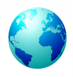 blue globe vector image vector image