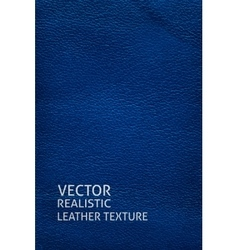 Blue leather vertical background vector