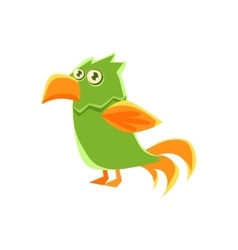 Green Parrot Toy Exotic Animal Drawing vector image vector image