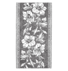 Ribbon is a french design of flowers a thin band vector