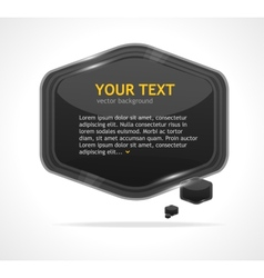 Abstract speech bubble black vector image vector image