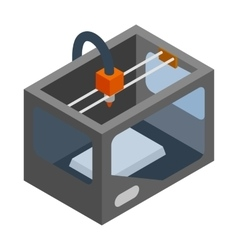 3d printer icon isometric 3d style vector image vector image