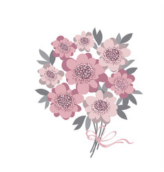 abstract stylized floral abstract wedding bouquet vector image