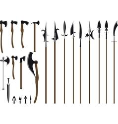 big weapon set vector image vector image