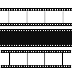 Blank simple film strip set vector image