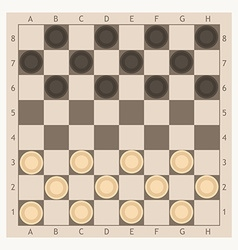 checkers game board vector image