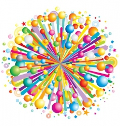 color explosion vector image
