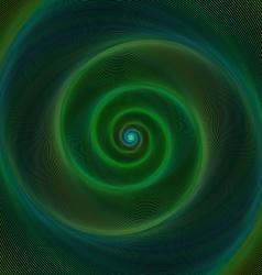 Dark green neon light spiral background vector