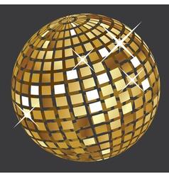Golden disco ball2 vector image vector image