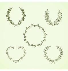 Retro calligraphic wreath vector image
