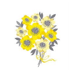 abstract wedding bouquet with yellow camellia and vector image vector image
