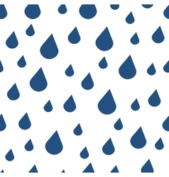 Blue water drops seamless pattern vector image