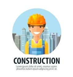 construction company logo design template vector image vector image