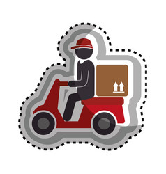 delivery motorcycle service icon vector image