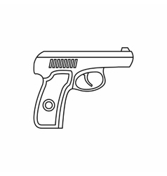 Gun icon in outline style vector image