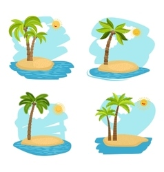 Holiday design coconut palm trees islands vector image vector image