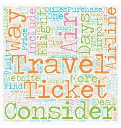 How To Find Cheap Airfare text background vector image vector image