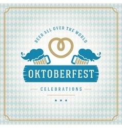 Oktoberfest vintage poster or greeting card vector
