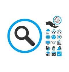 Search Flat Icon With Bonus vector image vector image