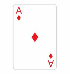 Ace diamonds vector