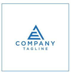 Ae or ea triangle logo vector