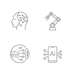 ai icons set artificial intelligence icons vector image