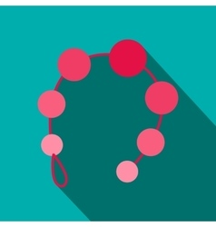 Anal beads icon flat style vector
