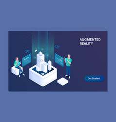 augmented reality concept business augmented vector image